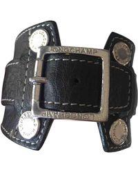 Longchamp Black Leather Bracelets