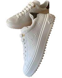 Louis Vuitton TimeOut Leder Sneakers - Weiß