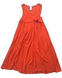 Sonia by Sonia Rykiel Orange Cotton Dress