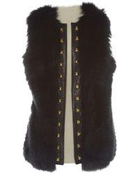 Philipp Plein - Pre-owned Black Leather Knitwear - Lyst