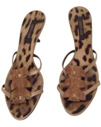 Roberto Cavalli - Brown Exotic Leathers Sandals - Lyst