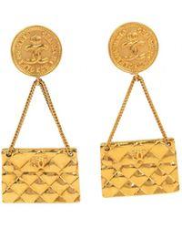 Chanel - Pre-owned Matelassé Earrings - Lyst