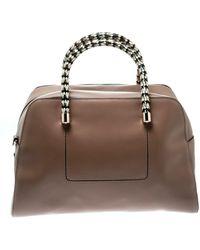 BVLGARI Beige Leather Handbag - Natural