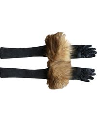Missoni Leather Long Gloves - Grey