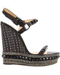 Christian Louboutin Cataclou Black Leather Sandals