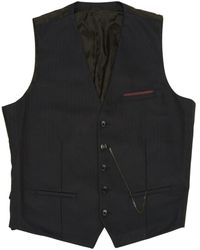 Bruno Mens Soft Black Leather Waistcoat Classic Traditional Gilet Casual Vest