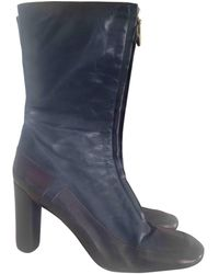 Marc Jacobs Leather Riding Boots - Blue