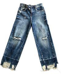 Maje Ss18 Large Jeans - Blue