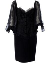 Valentino - Black Silk Dress - Lyst