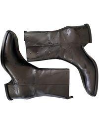 Givenchy Leder Stiefel - Schwarz