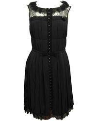Nina Ricci Black Silk Dress