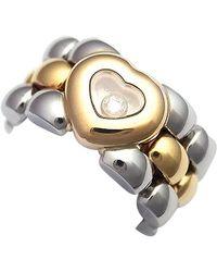 Chopard Bagues Happy Diamonds en Or jaune Doré - Multicolore