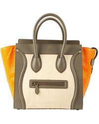 Céline Luggage Python Kleine Tasche - Mehrfarbig