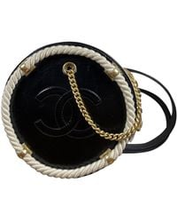 Chanel Leder Cross Body Tashe - Schwarz