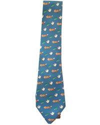 Hermès Cravatta in Seta - Blu