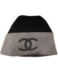 Chanel Black Wool Hats