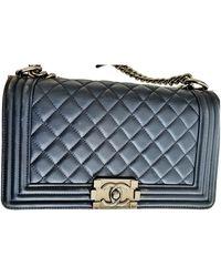 Chanel Boy Leder Handtaschen - Blau
