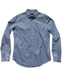Louis Vuitton Chemises en Coton Bleu