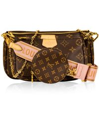 Louis Vuitton Multi Pochette Accessoires Brown Cloth Clutch Bag