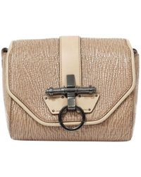 Givenchy - Obsedia Beige Leather Handbag - Lyst