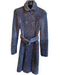 Burberry Wool Trench Coat - Grey