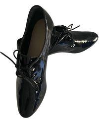 Longchamp Patent Leather Flats - Black