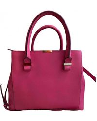 Victoria Beckham Quincy Leather Tote - Pink