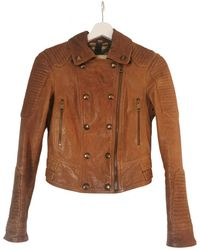 Burberry Leather Jacket - Brown