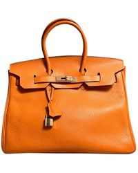 Hermès Borsa Birkin 35 in Pelle - Arancione