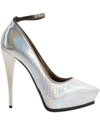 Lanvin - Silver Leather - Lyst