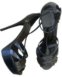 Burberry Leather Sandals - Multicolor