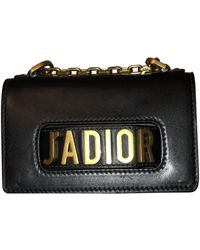 Dior J'a Black Leather Clutch Bag