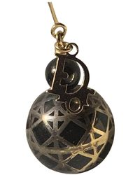 Dior Pendientes en chapado en oro negro My ABC