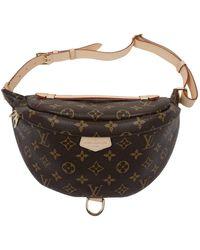 Louis Vuitton Bolsa clutch en lona marrón Bum Bag / Sac Ceinture