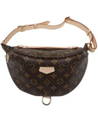 Louis Vuitton Bum Bag / Sac Ceinture Leinen Clutches - Braun