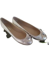 Longchamp Leather Ballet Flats - Metallic