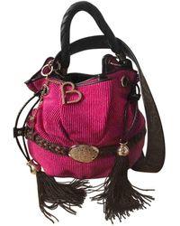 Lancel Bolsa de mano en tweed rosa Brigitte Bardot