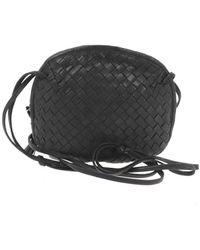 Bottega Veneta Nodini Leather Handbag - Black