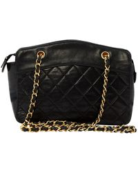 Chanel Vintage Black Leather Handbag