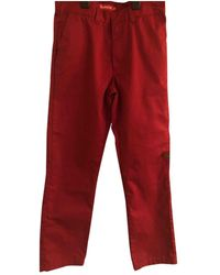 Supreme Red Polyester Trousers