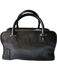 Loewe Amazona Leather Handbag - Black