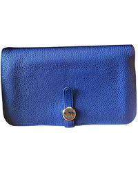 Hermès Dogon Leather Wallet - Blue