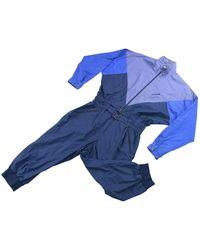 adidas Maglione. Gilet. Felpe in cotone blu