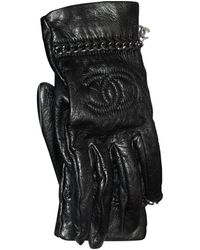 Chanel Guantes de Cuero - Negro