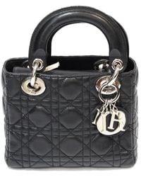 Dior Lady Black Leather Handbag