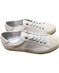 Céline Blank White Cloth Sneakers - Multicolor