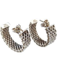 Tiffany & Co. - Tiffany Somerset Silver Earrings - Lyst