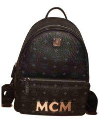MCM Leder Wochenende tasche - Schwarz