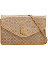 39867a9edf9 Lyst - Céline Multi Gourmette Suede Chain Shoulder Bag in Natural