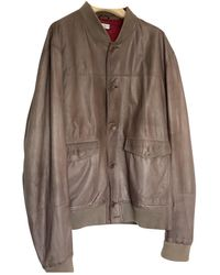 Brunello Cucinelli Leather Jacket - Multicolour